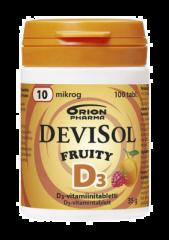 DEVISOL FRUITY 10 MIKROG IMESKELYTABLETTI 100 kpl