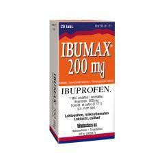 IBUMAX 200 mg tabl, kalvopääll 20 fol